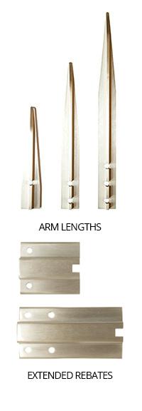 Arm lengths and rebates All MK2 Door coordinators ...  sc 1 st  Selectrite Hardware & MK2 - Fire Door Coordinator   Selectrite Hardware - British Made ...